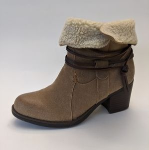 SPORTO Women's LORI Ankle Boots, Taupe, 5M